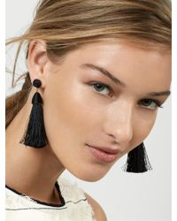 BaubleBar - Black Rosabella Tassel Earrings - Lyst