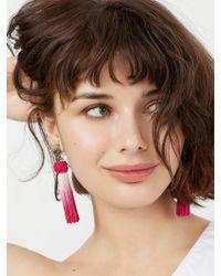 BaubleBar - Multicolor Sarina Tassel Earrings-fuchsia - Lyst