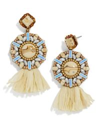 BaubleBar | Metallic Tahera Raffia Drop Earrings | Lyst