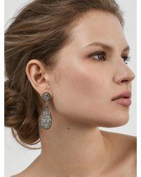 BaubleBar   Gray Moonlight Druzy Drop Earrings   Lyst