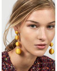 BaubleBar - Yellow Criselda Ball Drop Earrings - Lyst