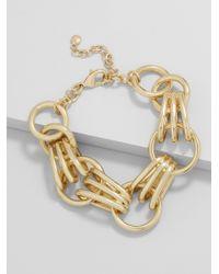 BaubleBar - Metallic Mariya Linked Bracelet - Lyst