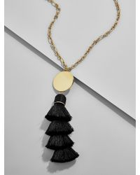 BaubleBar Black Tahira Tassel Pendant Necklace