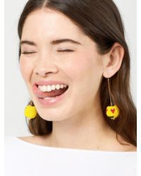 BaubleBar | Multicolor Lovestruck Emoticharm Drop Earrings | Lyst