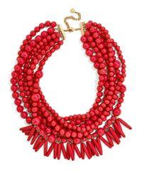 BaubleBar - Red Malibu Statement Necklace - Lyst