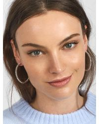 BaubleBar - Multicolor Diamonique Hoop Earrings - Lyst