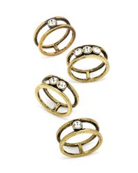 BaubleBar | Metallic Riven Ring Quad | Lyst