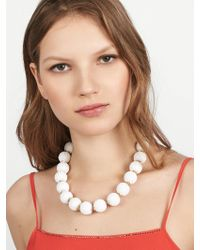 BaubleBar - White Beaded Ball Statement Necklace - Lyst