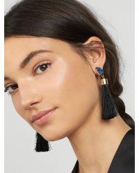 BaubleBar - Black Hebe Tassel Earrings - Lyst
