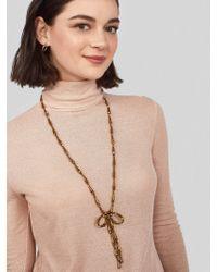 BaubleBar - Metallic Sapphira Bow Lariat Necklace - Lyst