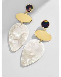 BaubleBar - White Fareena Drop Earrings - Lyst