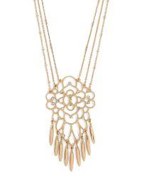 BaubleBar - Metallic Brielle Pendant Necklace - Lyst