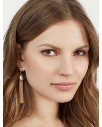 BaubleBar - Metallic Tassel Drop Earrings - Lyst