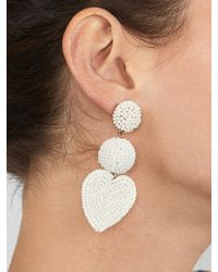 BaubleBar - Multicolor Vitina Heart Drop Earring - Lyst