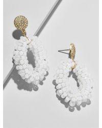 BaubleBar - White Eve Drop Earrings - Lyst