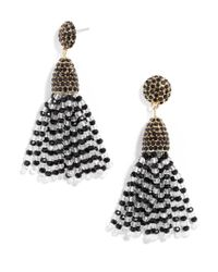 BaubleBar - Black Mini Gem Piñata Tassel Earrings - Lyst
