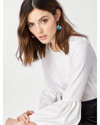 BaubleBar | Green Antigua Pom Pom Earrings | Lyst