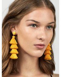 BaubleBar - Yellow Gabriela Stud Tassel Earrings - Lyst