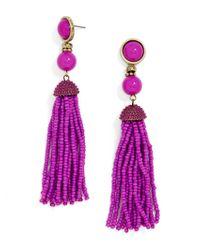 BaubleBar - Purple Artemis Tassel Earrings - Lyst