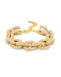 BaubleBar - Metallic Pavé Links-gold Small - Lyst
