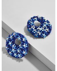 BaubleBar - Blue Macaria Hoop Earrings-cobalt - Lyst