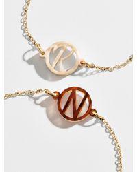BaubleBar - Brown Modern Acrylic Initial Bracelet - Lyst