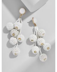 BaubleBar - White Cocoa Ball Drop Earrings - Lyst