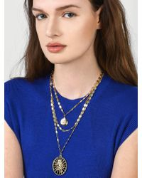 BaubleBar - Metallic Zion Layered Necklace - Lyst