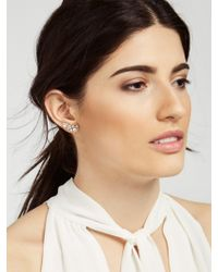 BaubleBar - Metallic Crystal Triangulum Ear Crawlers - Lyst