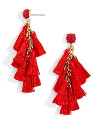 BaubleBar - Red Tango Tassel Earrings - Lyst