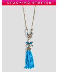 BaubleBar - Multicolor Margarida Tassel Necklace - Lyst