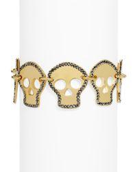 BaubleBar - Multicolor Crystal Skull Bracelet - Lyst