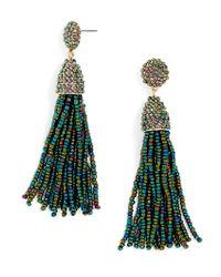 BaubleBar - Green Piñata Tassel Earrings - Lyst