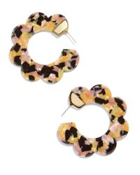 BaubleBar - Multicolor Dorine Resin Hoop Earrings - Lyst