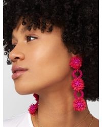 BaubleBar - Pink Vernita Flower Drop Earrings - Lyst