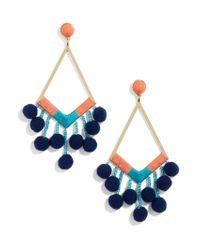 BaubleBar - Blue Solange Pom Pom Earrings - Lyst