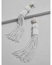 BaubleBar - White Mariachi Tassel Earrings - Lyst
