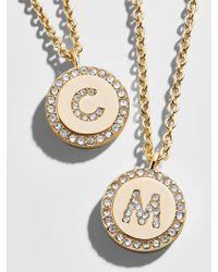 BaubleBar - Metallic Pavé Initial Pendant Necklace - Lyst