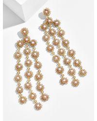 BaubleBar - Metallic Shiori Flower Drop Earrings-gold - Lyst