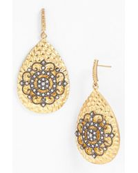 Freida Rothman | Metallic 'hamptons' Nautical Wheel Teardrop Earrings | Lyst