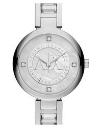 Armani Exchange - Metallic 'street' Bracelet Watch - Lyst