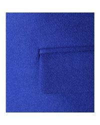 Stella McCartney - Blue Wool-Blend Coat - Lyst