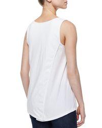 Neon Buddha - White Long Scoop-neck Tank - Lyst