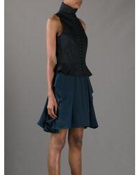 McQ - Blue Hook Fastening Dress - Lyst