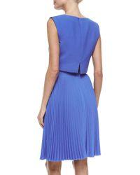 Black Halo - Blue Milan 2-piece Pleated Dress - Lyst
