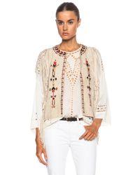 Isabel Marant - White Maxime Embroidered Velvet Vest - Lyst