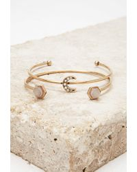 Forever 21 - Metallic Stud And Cuff Set - Lyst