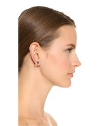 Vita Fede - Blue Double Titan Earrings - Rose Gold/black Pearl - Lyst