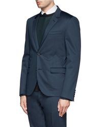 Lanvin - Blue Slim Fit Suit for Men - Lyst