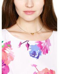 Kate Spade | Metallic Pansy Blossoms Mini Pendant | Lyst